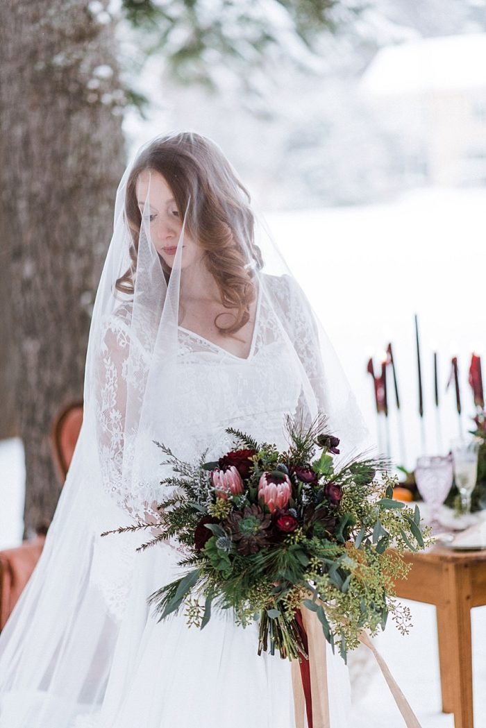 33 White Mountain New Hampshire Winter Wedding Inspiration Jesse Wyman Via MountainsideBride.com