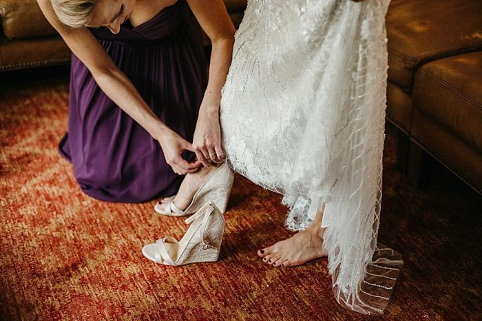 6 Shoes Vail Autumn Wedding Eric Lundgren Photography Via MountainsideBride.com