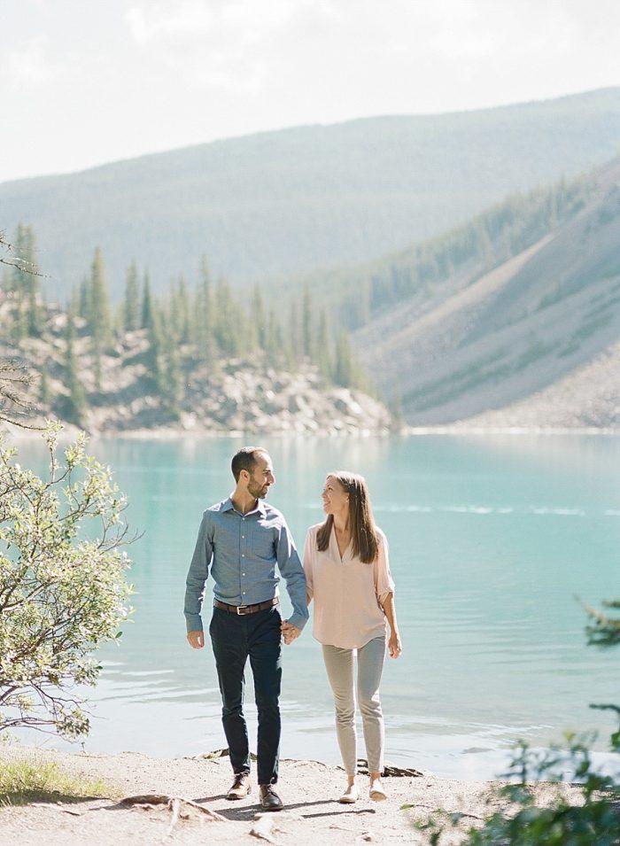 13 Banff National Park Engagement The Ganeys Via MountainsideBride.com