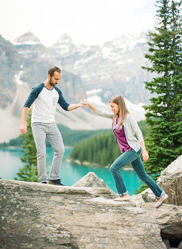 15 Banff National Park Engagement The Ganeys Via MountainsideBride.com