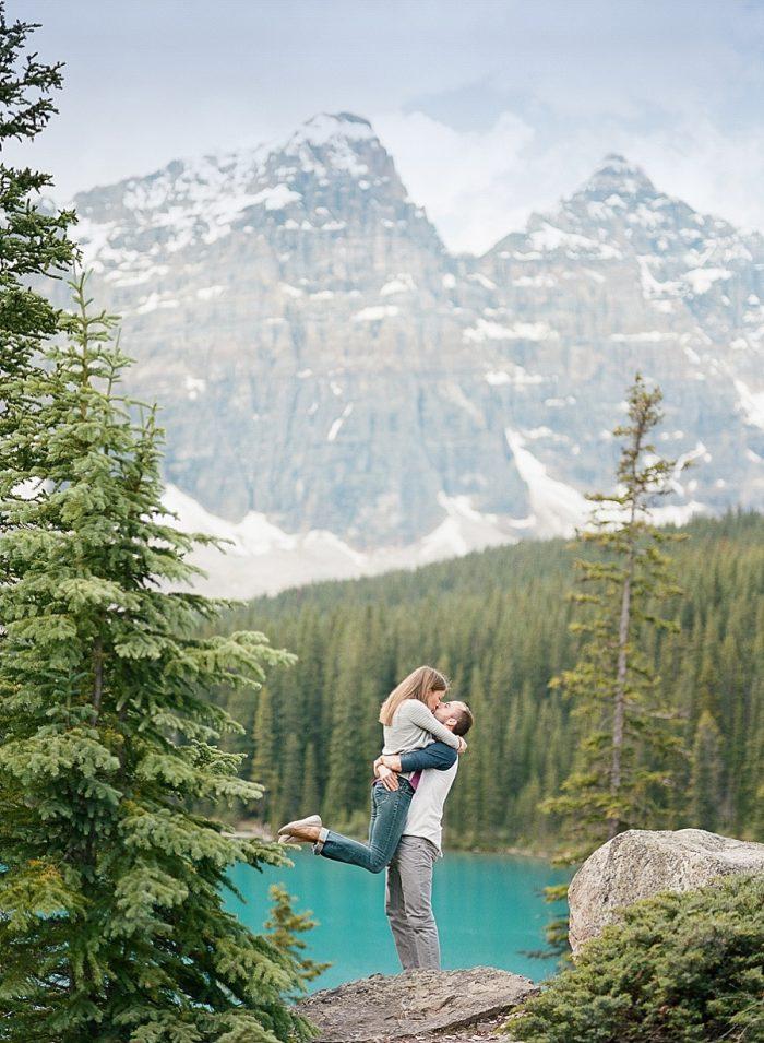 16 Banff National Park Engagement The Ganeys Via MountainsideBride.com
