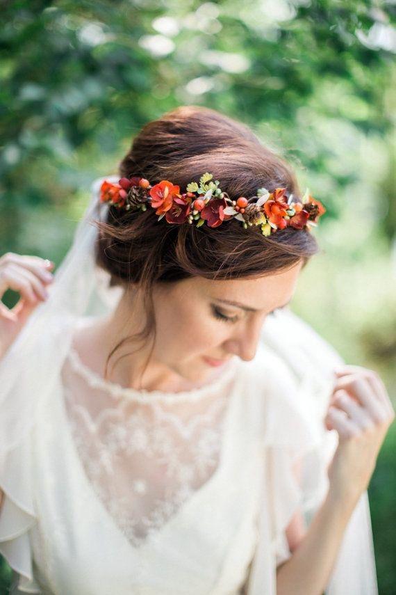 2 Fall Floral Crown Pantone Fall 2017 Autumn Maple 570