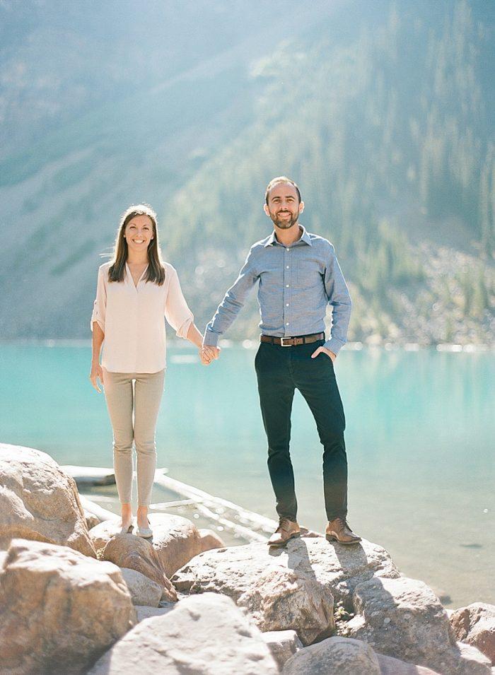 4 Banff National Park Engagement The Ganeys Via MountainsideBride.com