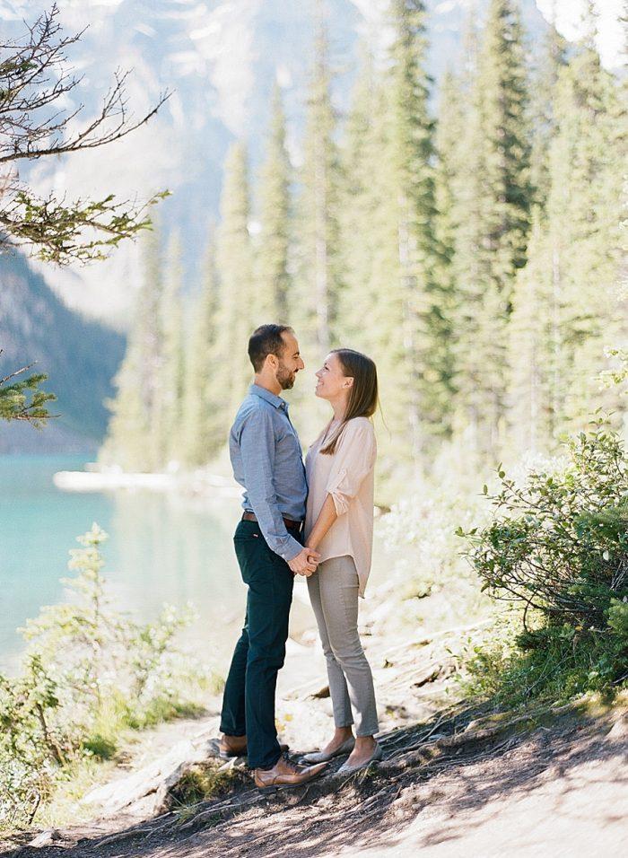 6 Banff National Park Engagement The Ganeys Via MountainsideBride.com