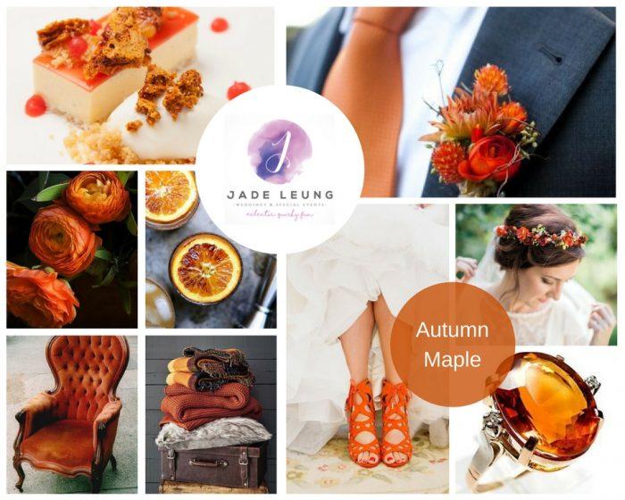 Pantone 2017 Wedding Inspiration Autumn Maple