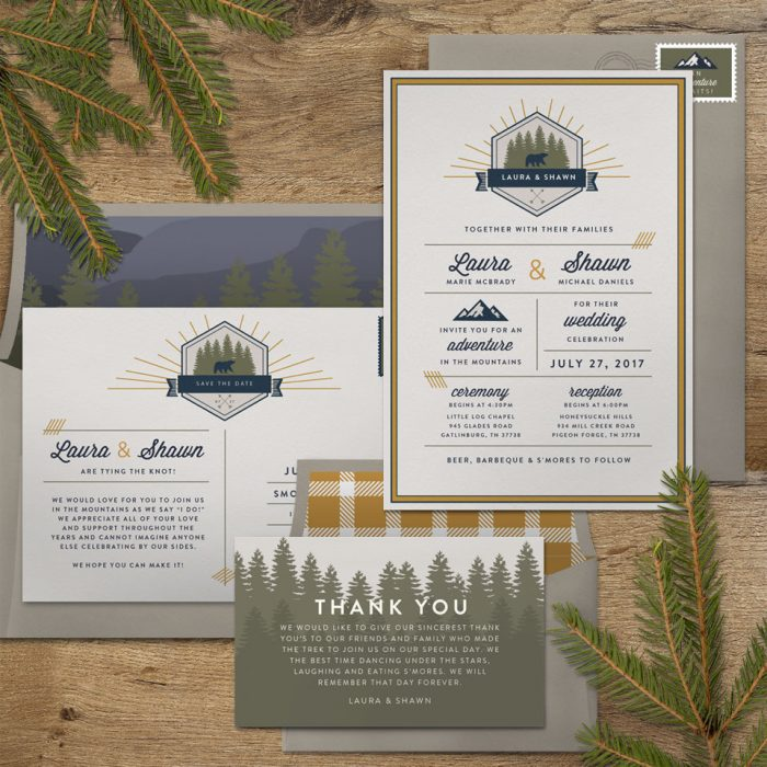 National Park Wedding Invitations Np 1 Opt