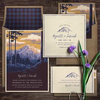 National Park Wedding Invitations Np 2 Opt