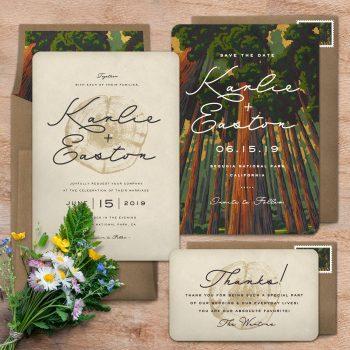 National Park Wedding Invitations Sequioa N 4 Opt