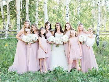12 Bride Girls Silverthorne Colorado Wedding A Vintage Affair Via MountainsideBride.com