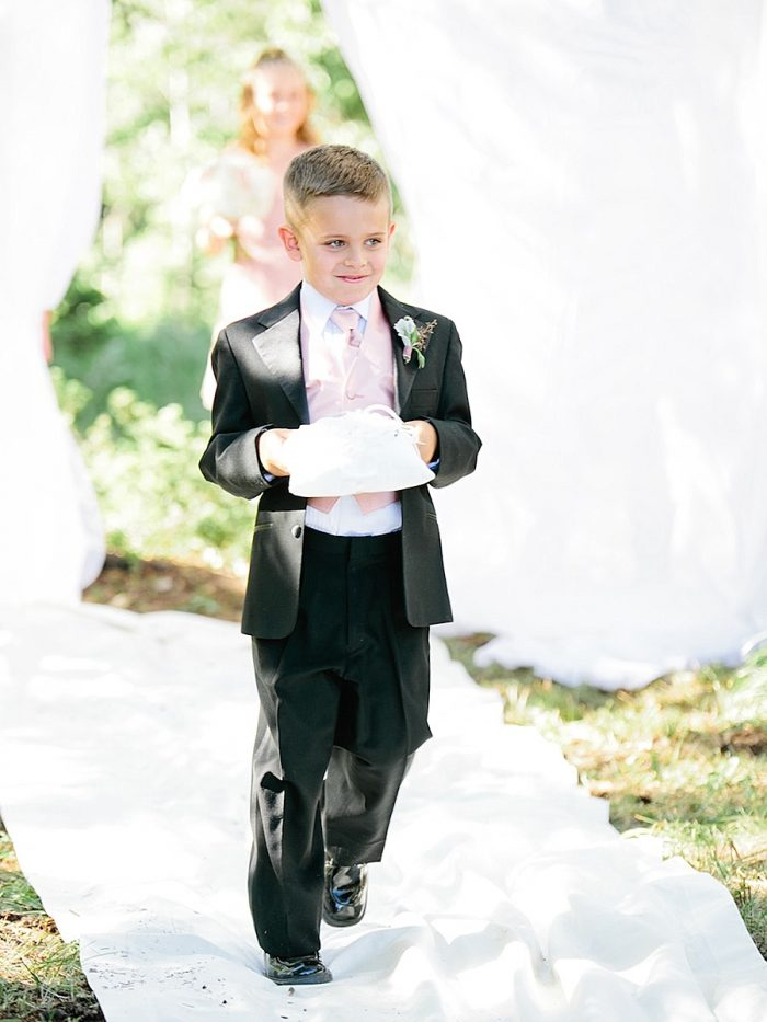 16 Ring Bearer Silverthorne Colorado Wedding A Vintage Affair Via MountainsideBride.com .