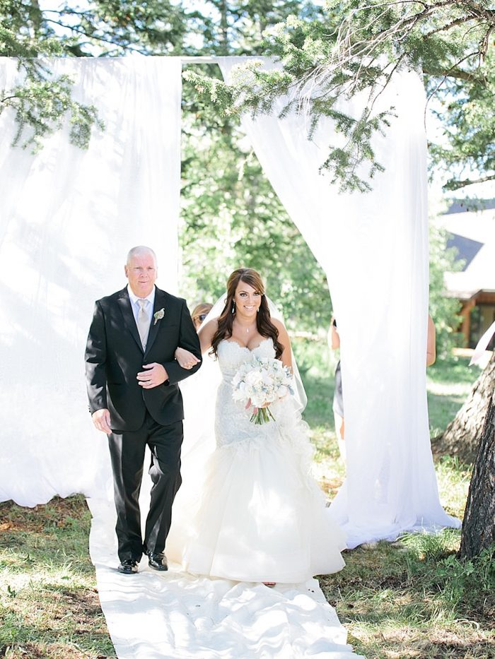 17 Bride Father Silverthorne Colorado Wedding A Vintage Affair Via MountainsideBride.com