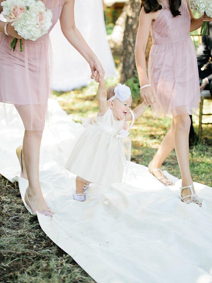 19 Baby Flowergirl Silverthorne Colorado Wedding A Vintage Affair Via MountainsideBride.com