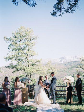 23 Ceremony Scenery Silverthorne Colorado Wedding A Vintage Affair Via MountainsideBride.com