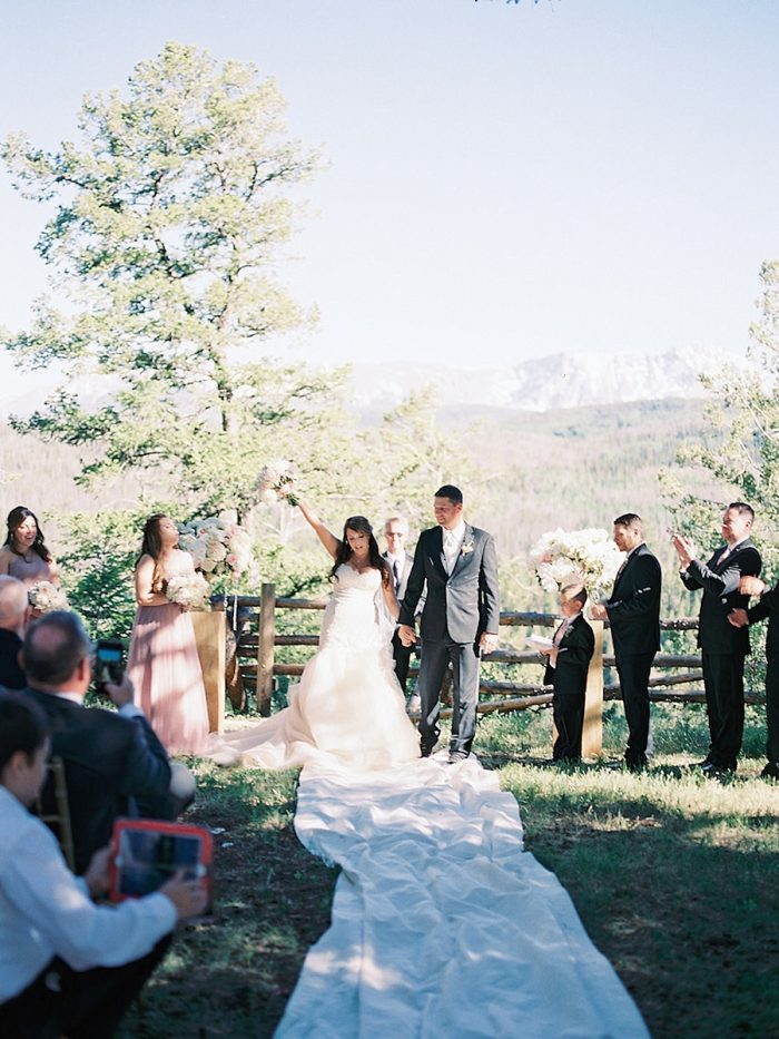 26 Married Silverthorne Colorado Wedding A Vintage Affair Via MountainsideBride.com .