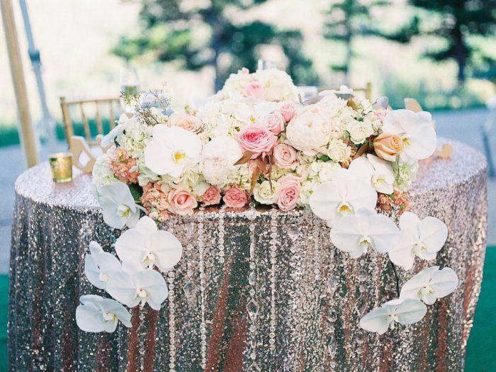 27 Bridegroom Table Flow Silverthorne Colorado Wedding A Vintage Affair Via MountainsideBride.com .