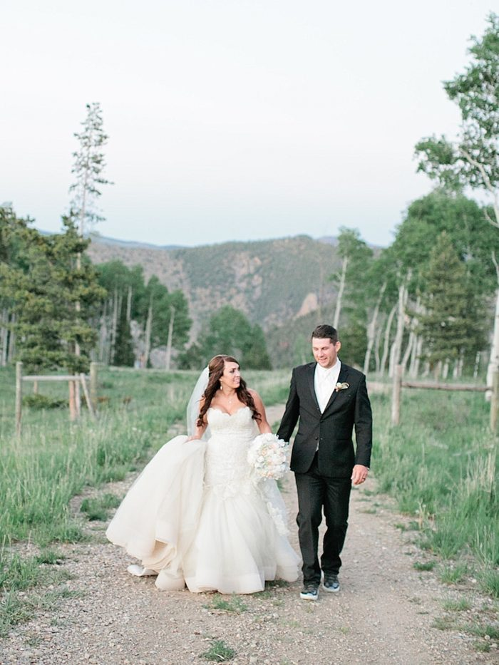 29 Walking Silverthorne Colorado Wedding A Vintage Affair Via MountainsideBride.com .