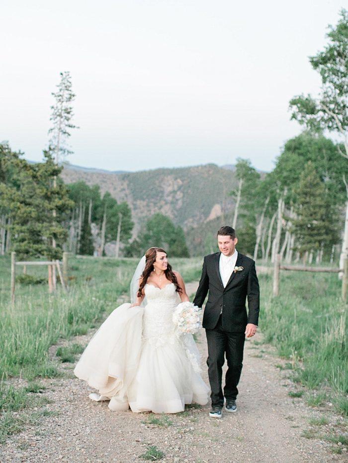29 Walking Silverthorne Colorado Wedding A Vintage Affair Via MountainsideBride.com .