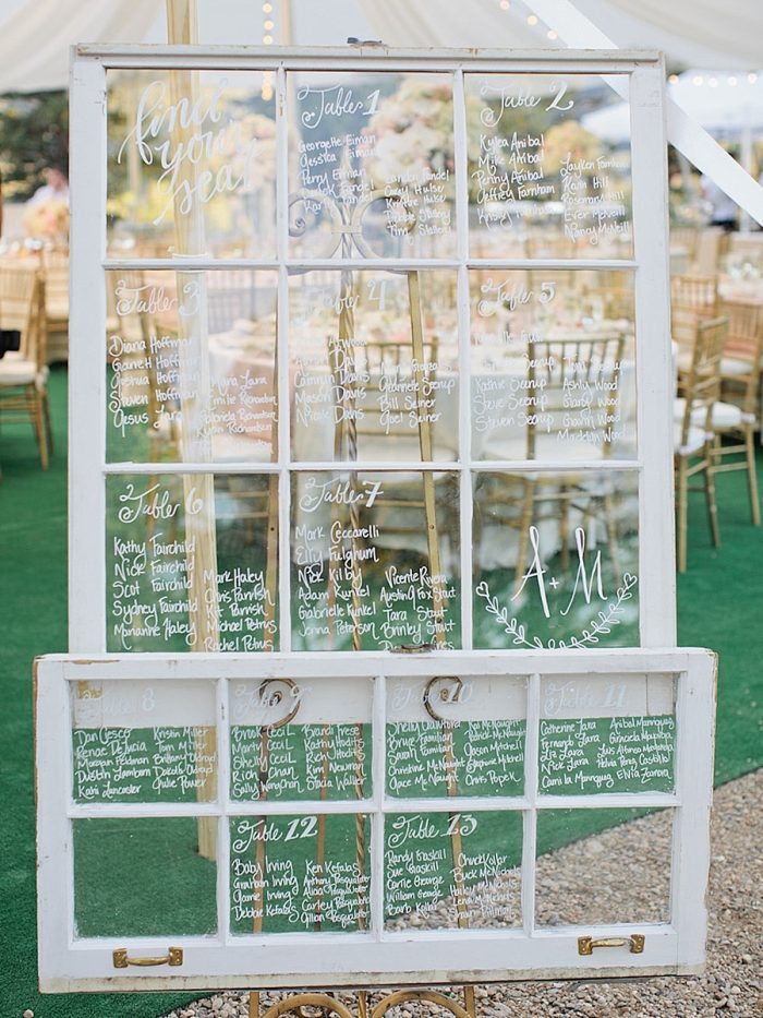 31 Table Chart Silverthorne Colorado Wedding A Vintage Affair Via MountainsideBride.com .