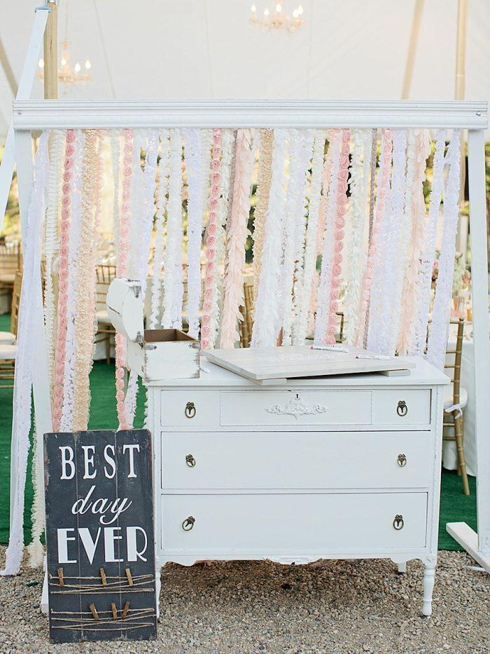 33 Guest Book Silverthorne Colorado Wedding A Vintage Affair Via MountainsideBride.com .