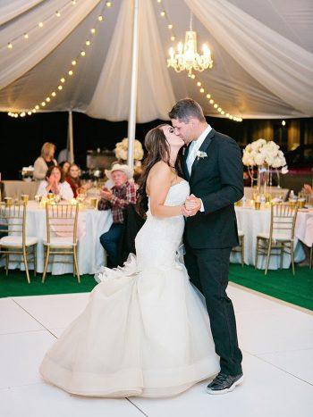 38 Dance Kiss Silverthorne Colorado Wedding A Vintage Affair Via MountainsideBride.com