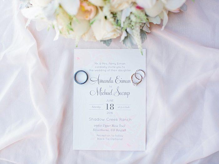 4 Invite Rings Silverthorne Colorado Wedding A Vintage Affair Via MountainsideBride.com .