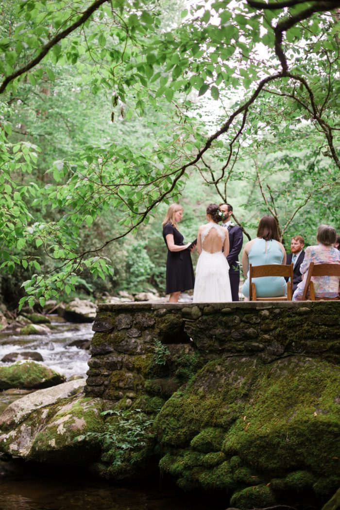 14 River Ceremony Spence Cabin Elopement JoPhotos Via MountainsideBride.com