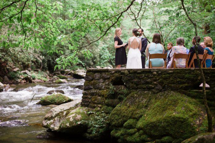 16 River Ceremony Spence Cabin Elopement JoPhotos Via MountainsideBride.com