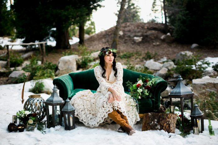 1 Big Bear Winter Wedding Inpiration Sarah Mack Photo Via MountainsideBride.com
