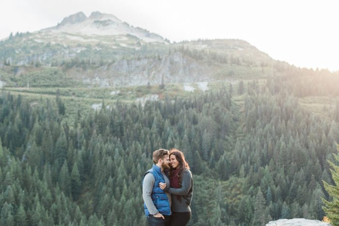 11 Mount Rainier Engagement Breanna Elizabeth Photography Via MountainsideBride.com