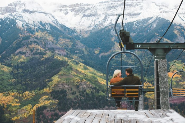 11 Telluride Winter Engagement Lyndsey Garber Photography Via Mountainsidebride.com