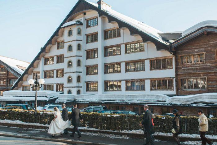 28 Switzerland Winter Wedding Nordica Photography Via MountainsideBride.com 67
