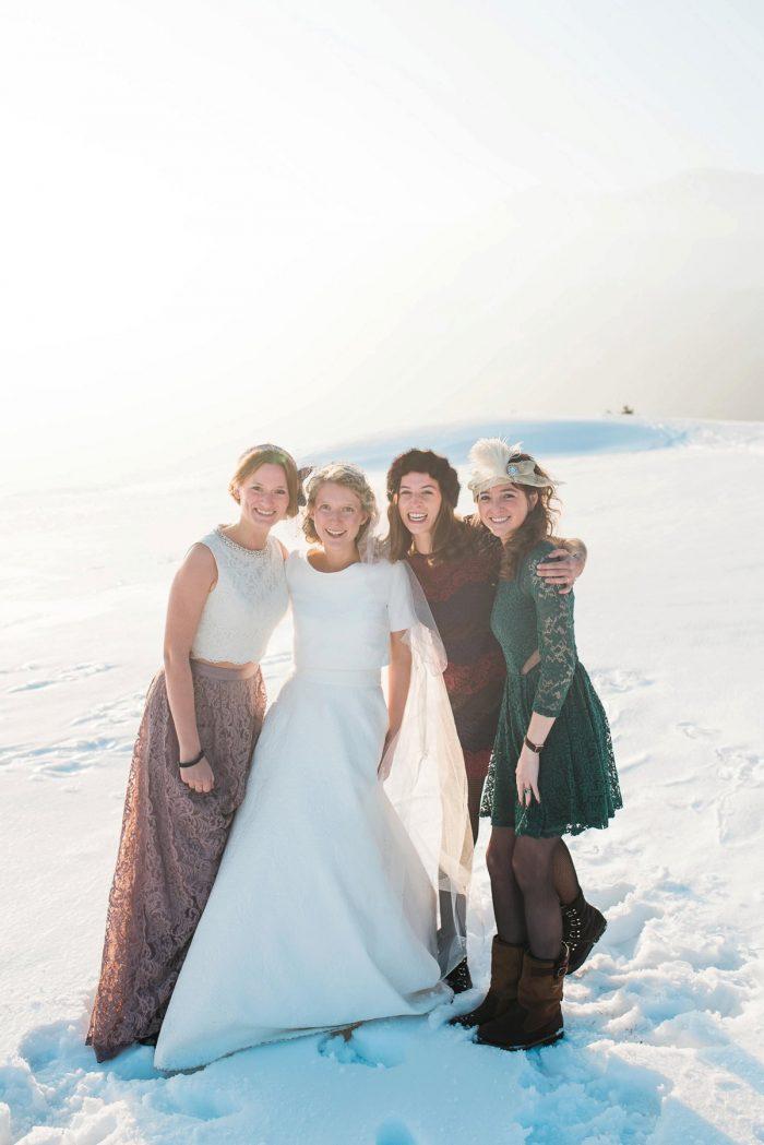 29 Switzerland Winter Wedding Nordica Photography Via MountainsideBride.com 75