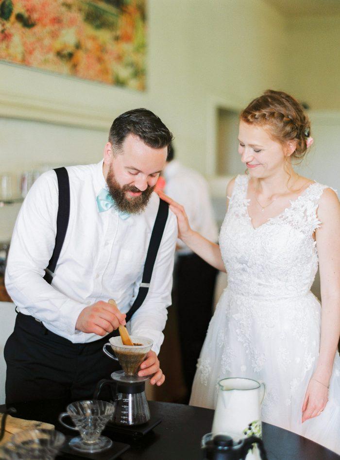 30 Coffee And Cake Colorful Austrian Wedding Theresa Pewal Via MountainsideBride.com