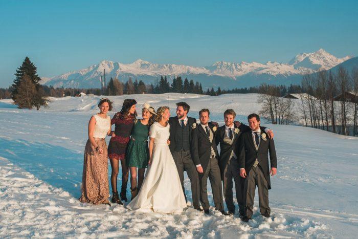 30 Switzerland Winter Wedding Nordica Photography Via MountainsideBride.com 76