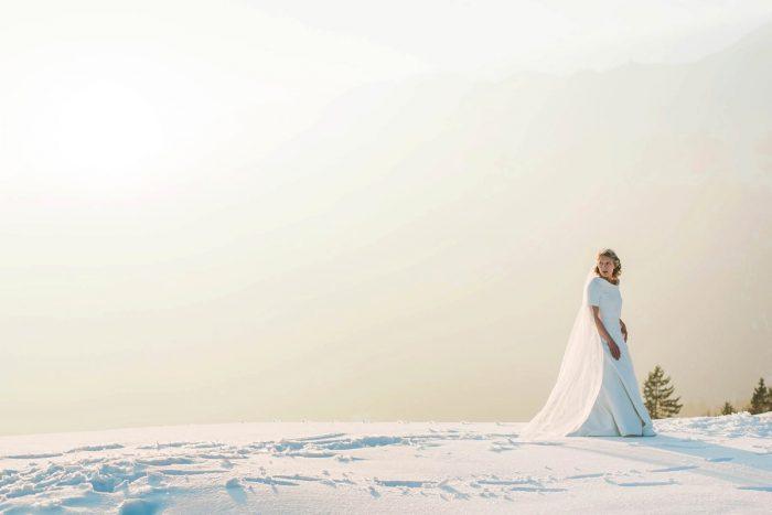32 Switzerland Winter Wedding Nordica Photography Via MountainsideBride.com 78