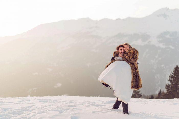 34 Switzerland Winter Wedding Nordica Photography Via MountainsideBride.com 100