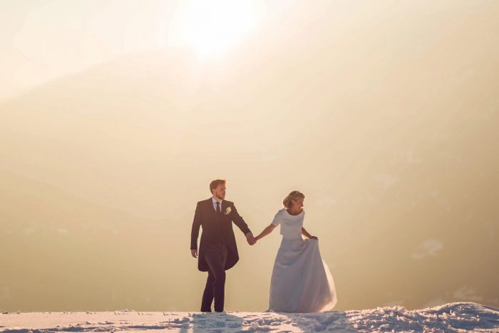 39 Switzerland Winter Wedding Nordica Photography Via MountainsideBride.com 085
