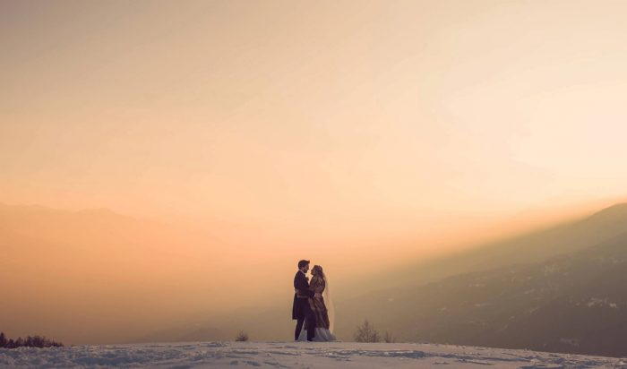41 Switzerland Winter Wedding Nordica Photography Via MountainsideBride.com 95