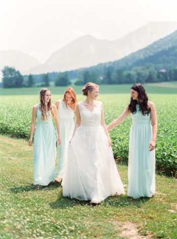 5 Group Shots Colorful Austrian Wedding Theresa Pewal Via MountainsideBride.com
