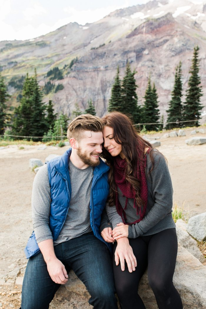 5 Mount Rainier Engagement Breanna Elizabeth Photography Via MountainsideBride.com