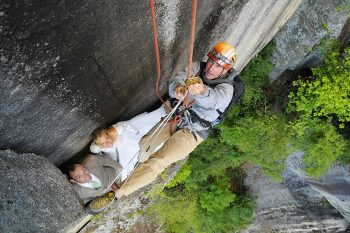 Climber Photographer Jay Philbreck Cliff Side Wedding Photography Via MountainsideBride.com