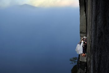 Marine Couple 2 Jay Philbreck Cliff Side Wedding Photography Via MountainsideBride.com