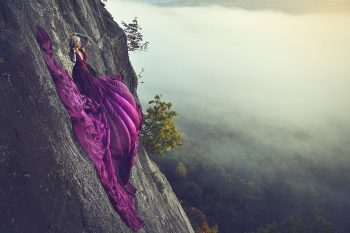 Purple Magesty Cliffside Jay Philbreck Cliff Side Wedding Photography Via MountainsideBride.com