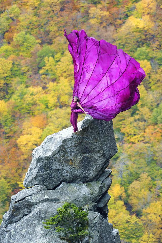 Purple Magesty Flight Jay Philbreck Cliff Side Wedding Photography Via MountainsideBride.com