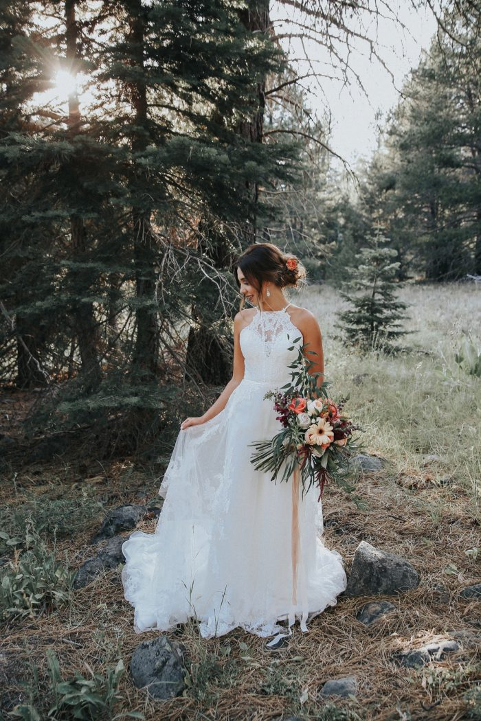 2 PNW Summer Styled Shoot Red Poppy Photo Via MountainsideBride.com