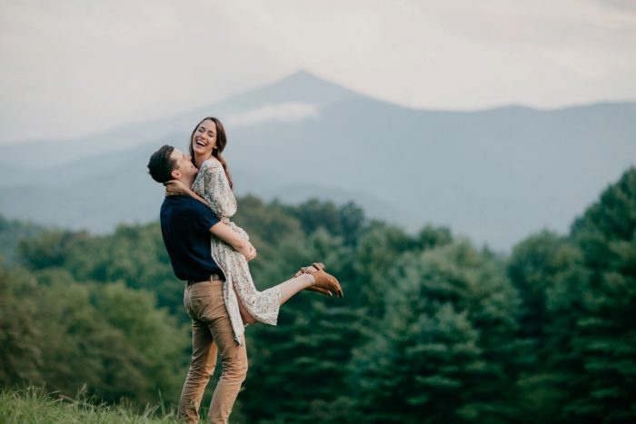 30 Asheville NC Appalachian Engagement DavidDrew Photography Via MountainsideBride.com