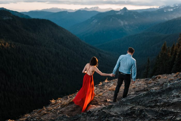 4 Mount Rainier Engagement Washington National Park The Foxes Photography Via MountainsideBride.com