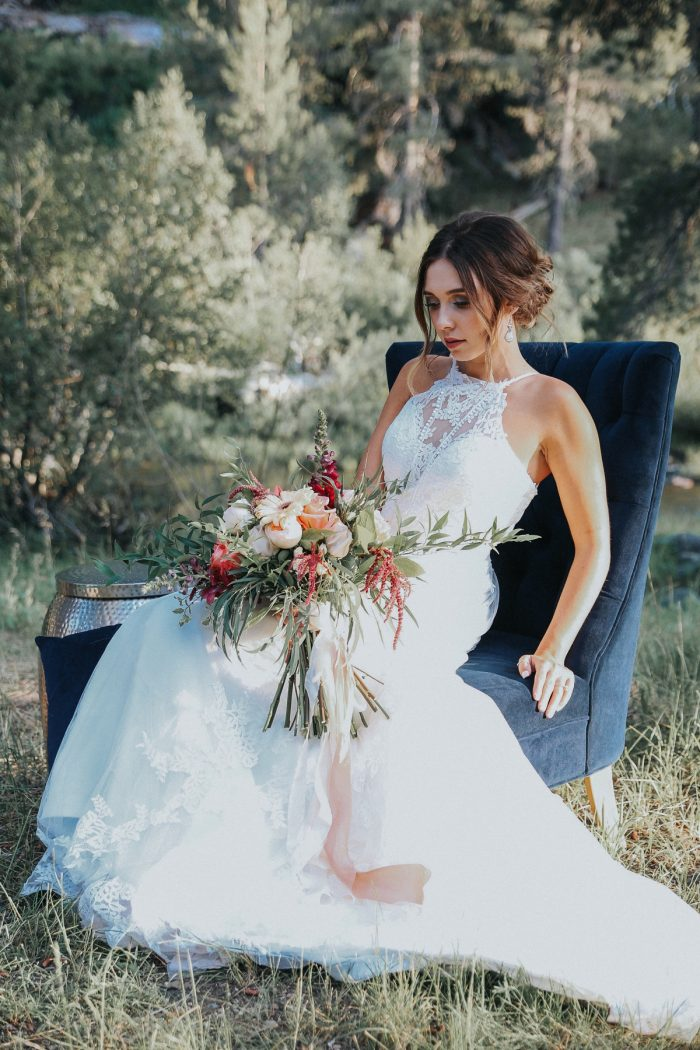 8 PNW Summer Styled Shoot Red Poppy Photo Via MountainsideBride.com