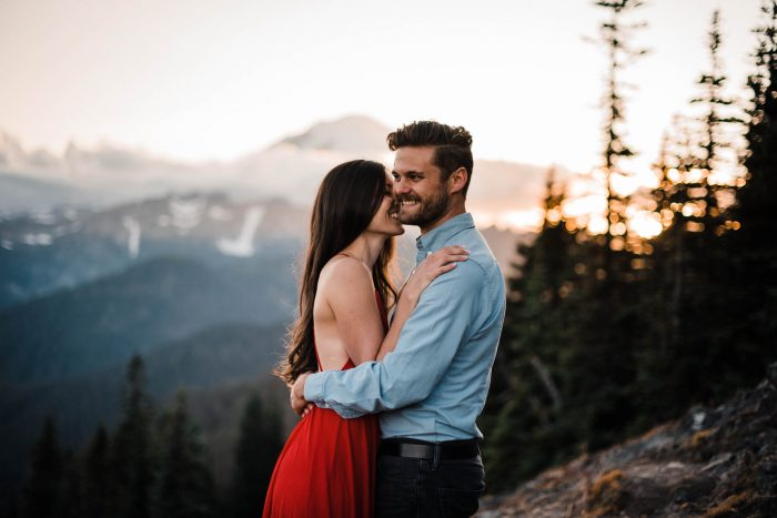 9 Mount Rainier Engagement Washington National Park The Foxes Photography Via MountainsideBride.com