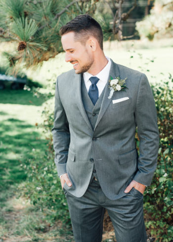 Gray Groom's Suits